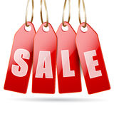 Red price tags Stock Images