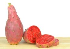 Red prickly pear cactus figs Stock Photography