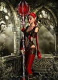 Red priestess Royalty Free Stock Photos