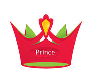 Red prince crown Royalty Free Stock Photo