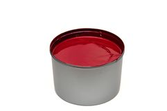 Red printing ink Stock Image