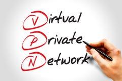 Red privada virtual Imagen de archivo libre de regalías