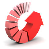 Red Process Arrow Royalty Free Stock Image