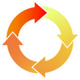 Red Process Arrows Stock Photos