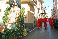 Red procession Royalty Free Stock Photos