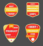 Red product badges. Royalty Free Stock Photo