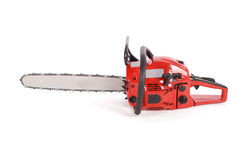 Red professional chainsaw Stock Photos