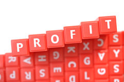 Red profit Royalty Free Stock Photography
