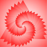 The red projection of the triangle Stock Photo