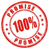 Red promise guarantee seal. Red promise guarantee vector stamp Stock Illustration