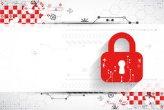 Red protection background. Technology security, encode and decrypt Stock Image