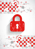 Red protection background. Technology security, encode and decrypt Stock Images