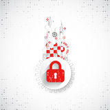 Red protection background. Technology security, encode and decrypt Royalty Free Stock Photography