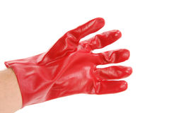 Red protective gloves Stock Photography