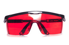 Red protective safety glasses Stock Images