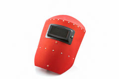 Red protective screen. Stock Image