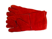 Red protective work gloves Royalty Free Stock Photos