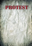 Red Protest letters on a grunge paper background Stock Photography