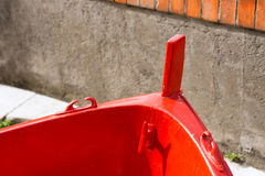 Red Prow of Rowing Boat Stock Image