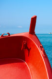 Red Prow of Rowing Boat Royalty Free Stock Image