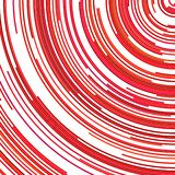 Red psychedelic abstract background from concentric circular stripes. Red psychedelic abstract background - vector illustration from concentric circular stripes stock illustration