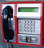 Red public telephone stock image