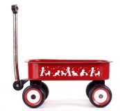 Red pull trolley Stock Photography