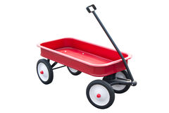 Red Pull Trolley. Red Pull Trolley Isolated On White Royalty Free Stock Image