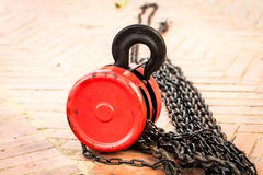 Red pulley Royalty Free Stock Image
