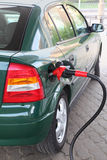Red Pump For Refueling Filling Car On Station Stock Photography
