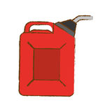 Red pump gasoline nozzle image Royalty Free Stock Images