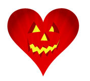 Red pumpkin face heart illustration design Royalty Free Stock Image