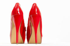 Red pumps Stock Photography