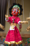 Red puppet on a string in Kathmandu Royalty Free Stock Photography