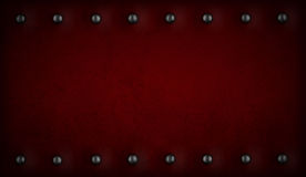 Red or purple background with rivets Royalty Free Stock Images