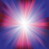 Red, purple and blue colour burst Stock Photo
