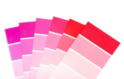 Red and purple color paint chips Royalty Free Stock Photos