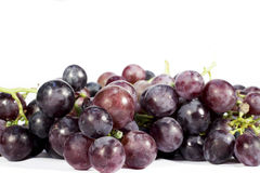 Red and purple grapes isolated on white background Stock Photography