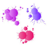 Red purple lilac watercolor paint drops Stock Image