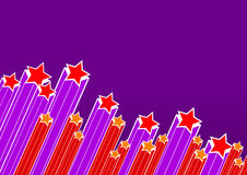 Red purple party stars. Vector Stock Photo