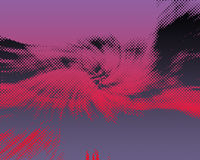 Red Purple Pink Grey and Black Halftone Royalty Free Stock Image