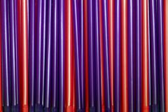 Red and purple pipes Royalty Free Stock Image
