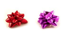 Red & purple ribbon Stock Photo