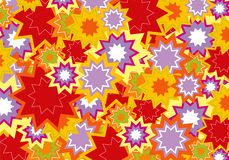 Red and purple star flower vector illustration
