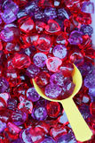 Red and purple sweet gummy Stock Photos