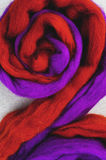 Red and purple wool Stock Images