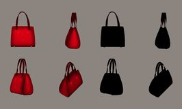 Red Purse. Digital object for your artistic creations and/or projects Stock Images