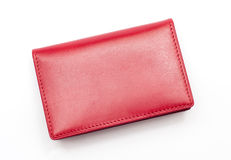 Red purse. At the white background Stock Images