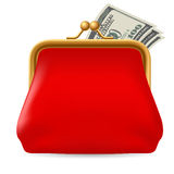 Red purse Royalty Free Stock Photography