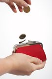 Red purse Stock Photography